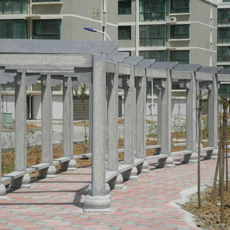 【园林景观136】石雕花架长廊价格