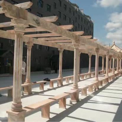 【园林景观139】石雕花架长廊厂