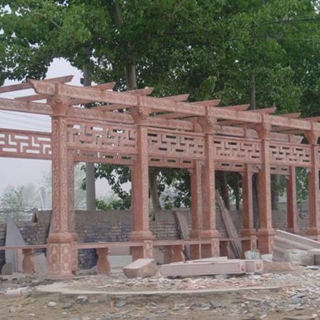 【园林景观144】石雕花架长廊批发
