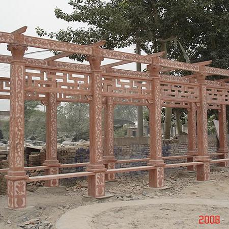 【园林景观147】石雕花架长廊厂家