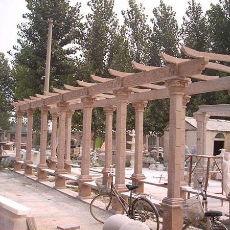【园林景观149】石雕花架长廊定制