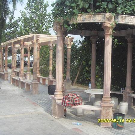 【园林景观150】石雕花架长廊供应