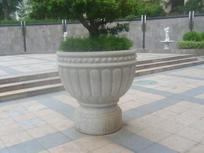 【园林景观007】石雕花盆花钵公司