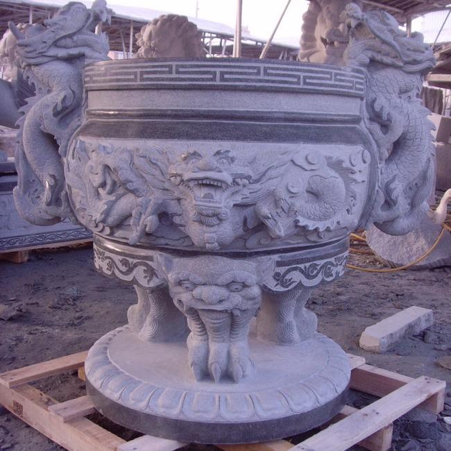 【园林景观417】石雕花盆花钵雕刻厂
