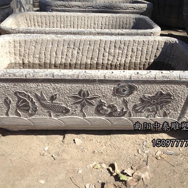 【园林景观418】石雕花盆花钵厂