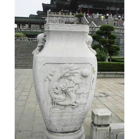【园林景观421】石雕花盆花钵公司