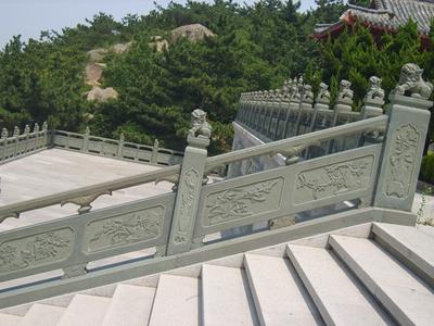 【石雕栏板栏杆系列1023】青石栏杆