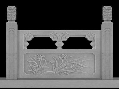 【石雕栏板栏杆系列706】汉白玉栏杆