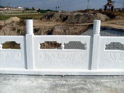 【石雕栏板栏杆系列812】汉白玉栏杆