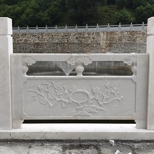 【石雕栏板栏杆系列871】汉白玉栏杆公司