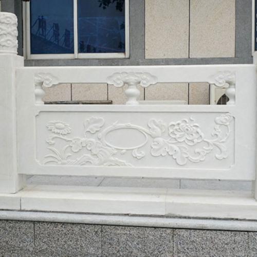 【石雕栏板栏杆系列875】汉白玉栏杆供应