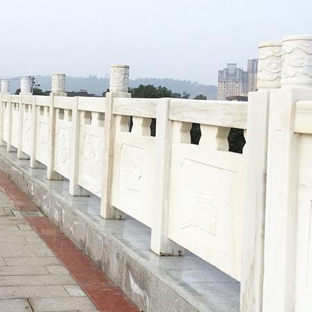 【石雕栏板栏杆系列941】汉白玉栏杆雕刻厂