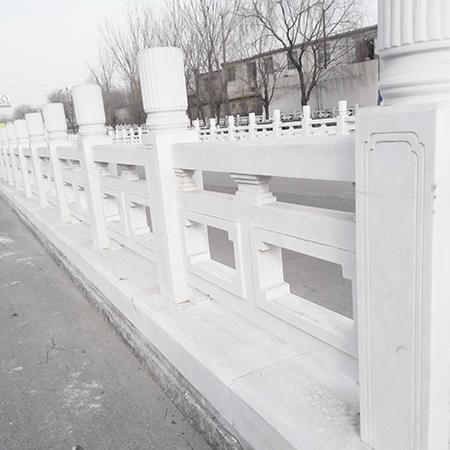 【石雕栏板栏杆系列942】汉白玉栏杆厂