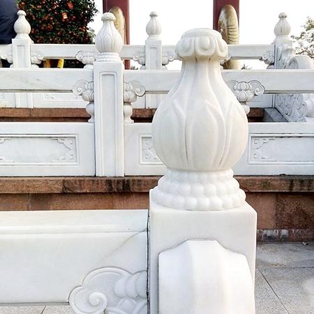 【石雕栏板栏杆系列952】汉白玉栏杆多少钱