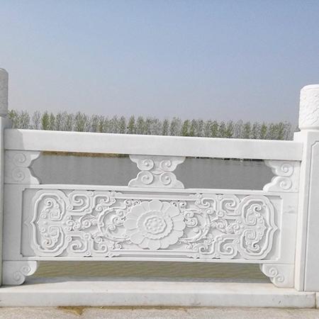 【石雕栏板栏杆系列953】汉白玉栏杆雕刻厂