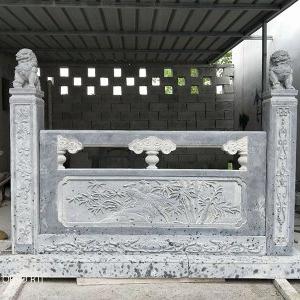 【石雕栏板栏杆系列977】青石栏杆雕刻厂