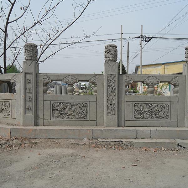 【石雕栏板栏杆系列978】青石栏杆厂