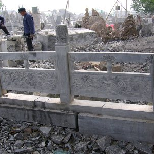 【石雕栏板栏杆系列983】青石栏杆定做