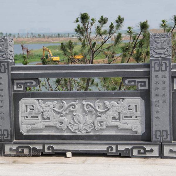 【石雕栏板栏杆系列990】青石栏杆厂