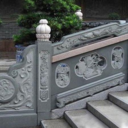 【石雕栏板栏杆系列991】青石栏杆批发