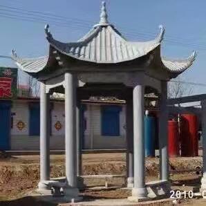 """""""【石雕凉亭系列073】中式单层六角石雕凉亭价格""""/"""