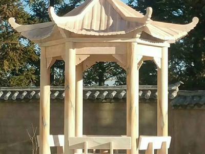 【石雕凉亭系列170】中式单层六角石