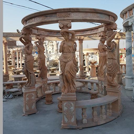 【石雕凉亭系列798】欧式石雕凉亭雕刻厂