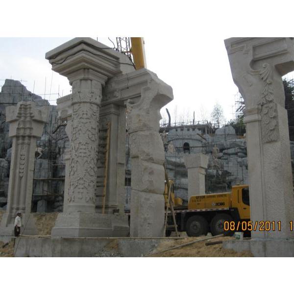 【龙柱华表系列069石雕异形柱】石雕柱子价格
