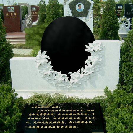 【石雕墓碑系列267】墓碑雕刻厂