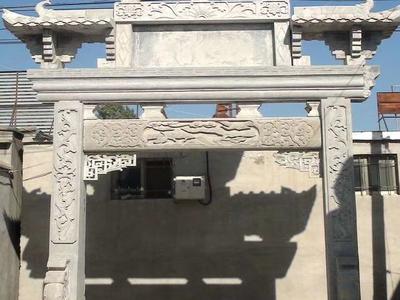 【石雕牌坊系列022】一间两柱石雕牌