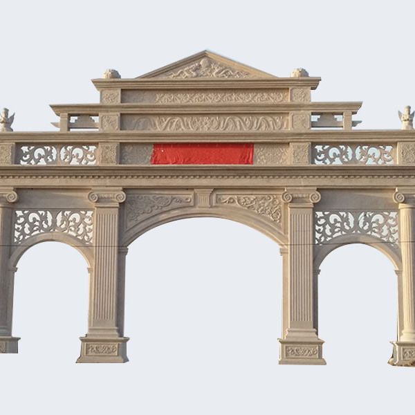 【石雕牌坊系列946】三间四柱石雕牌楼石牌楼雕刻厂