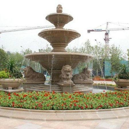 【石雕喷泉系列002】石雕龙头喷泉价格