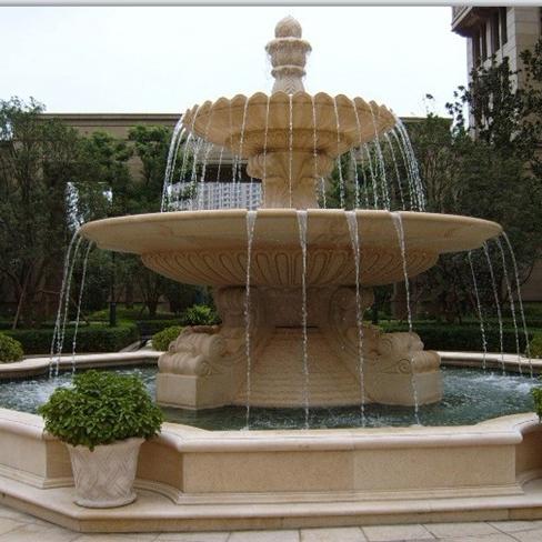 【石雕喷泉系列122】石雕龙头喷泉价格