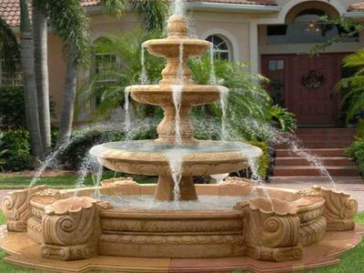 【石雕喷泉系列296】中式石雕喷泉供