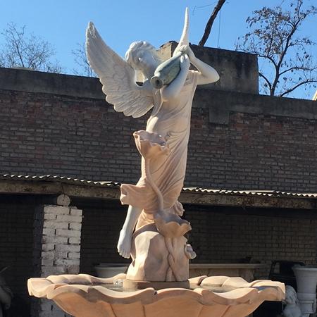 【石雕喷泉系列738】欧式石雕喷泉定做