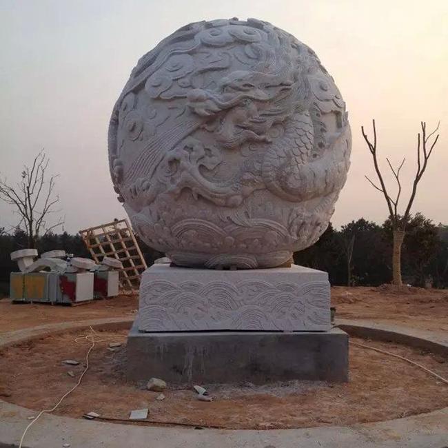 【石雕喷泉系列870】石雕风水球定做