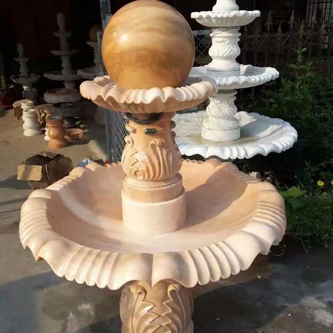 【石雕喷泉系列882】石雕风水球定做