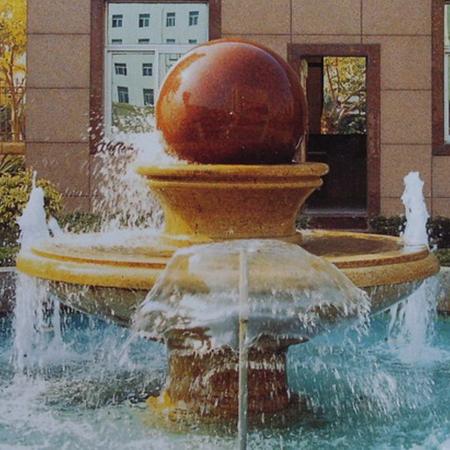 【石雕喷泉系列888】石雕风水球雕刻厂