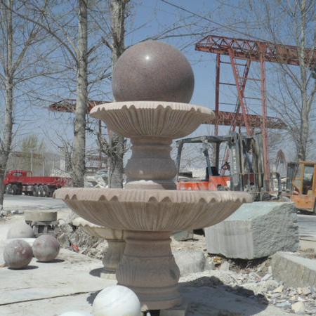 【石雕喷泉系列890】石雕风水球批发