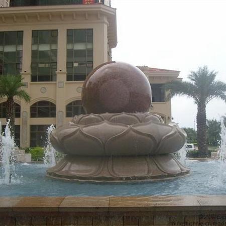 【石雕喷泉系列893】石雕风水球厂家