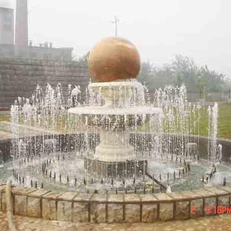 【石雕喷泉系列898】石雕风水球价格