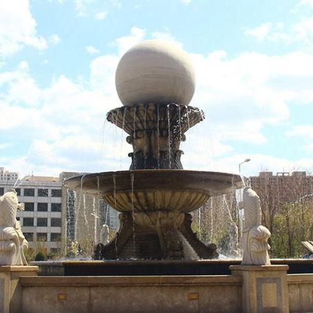 【石雕喷泉系列899】石雕风水球多少钱