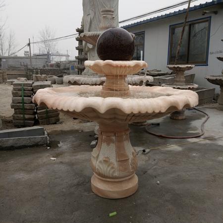 【石雕喷泉系列905】石雕风水球厂家
