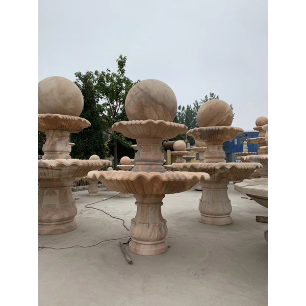 【石雕喷泉系列913】石雕风水球厂