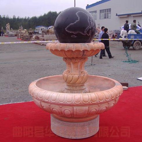 【石雕喷泉系列920】石雕风水球供应