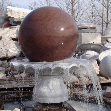 【石雕喷泉系列926】石雕风水球批发