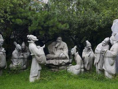 【人物雕塑0010】古代人物石雕像雕