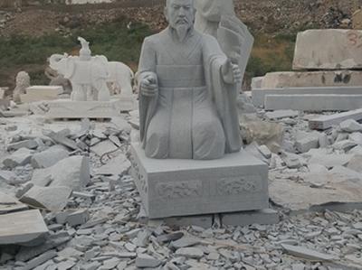 【人物雕塑0161】古代人物单体石雕
