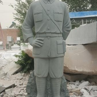 【人物雕塑0358】军事人物石雕像价格