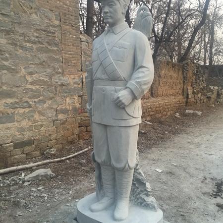 【人物雕塑0359】军事人物石雕像多少钱